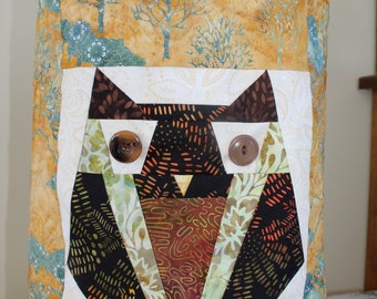 Paper Pieced Owl Bag PDF Pattern - Learn Paper Piecing