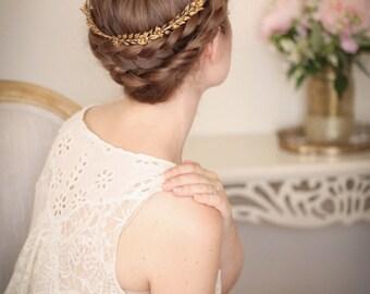 Edwardian mini leaf circlet, vintage crown, leaf crown, bridal circlet, bridal headpiece, Greek goddess, flower crown, boho #105