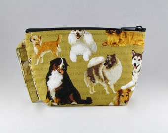 Donation Bag - Save the Dogs Makeup Bag - Accessory - Cosmetic Bag - Pouch - Toiletry Bag - Gift