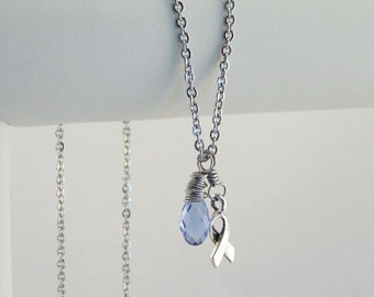 Periwinkle Awareness Necklace