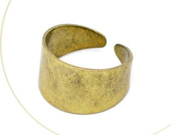 A support ring copper nickel, antique gold, 17.5 mm thickness 0.8 mm