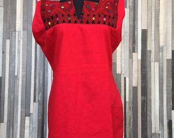Chiapas Flowered Dress ~ Huipil Dress ~ Mexican Dress ~ Mexican Embroidered Dress ~ Ethnic Floral Dress ~ Handmade Clothes ~ Cotton Dress