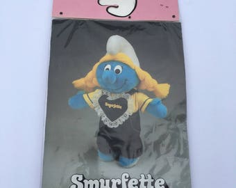Vintage NOS Smurfette Wardrobe Overalls and Yellow Shirt Fits Floppy Smurf Plush #642