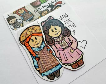 Best Friend Gift, Anne of Green Gables Fan Bookmark, Anne Shirley Fan Art, Diana Barry Collectible,  Handmade Book Accessories