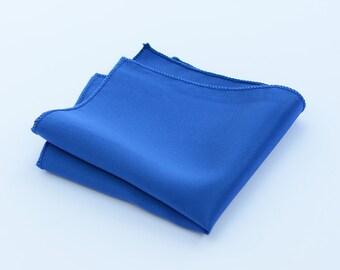 Royal Blue Pocket Squares.Silk Pocket Square.Royal Blue Wedding Pocket Squares