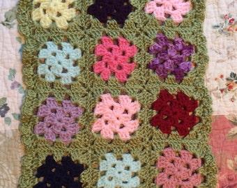 Dolly Granny square blanket