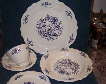 Homer Laughlin Imperial Blue Dresden Dinnerware & Items similar to Homer Laughlin Imperial Blue DRESDEN Dinnerware ...