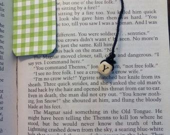 Green Gingham Bookmark