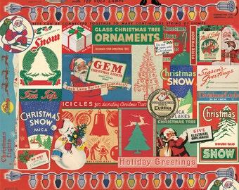 Cavallini Vintage Christmas #2 Wrap