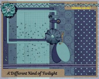 Twilight Mini Digital Scrapbook Kit, Clip Art for Scrapbooking