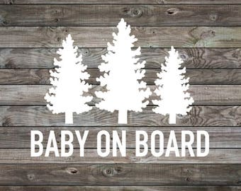 Baby on Board Sticker | Baby on Board Car Decal | Baby on Board | Baby Shower Gift | Vinyl Decal | Window Decal | Mom Car Decal