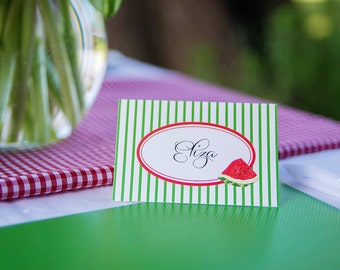 Watermelon Picnic Collection: Printable Menu Tents