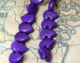 Purple Zuni Earring Bearbeads dyed magnesite  by the Pair, Purple Color of the YEAR