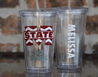 Mississippi State College Gameday Tailgating Team Tumbler