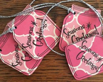 Atomic Christmas Mason Jar Tags - Christmas Gift Tags - Gift Tags - Mason Jar Tags