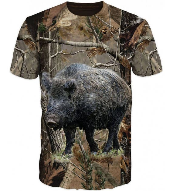 Outdoor Hunting T-shirt 3D Boar Wild Boar Breathable sAynip7psO
