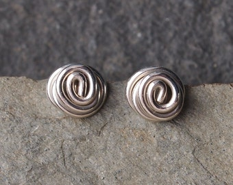silver earrings, small silver earring studs, sterling silver stud earrings