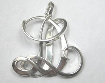Custom 'SD' Initial Monogram Pendant - Available In All Sizes and Metals - Makes a Beautiful Gift!