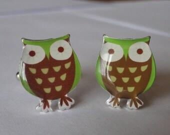 Green Owl Cufflinks