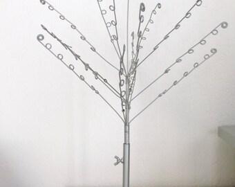 Display tree jewelry, adjustable, gray, metal, 50 cm