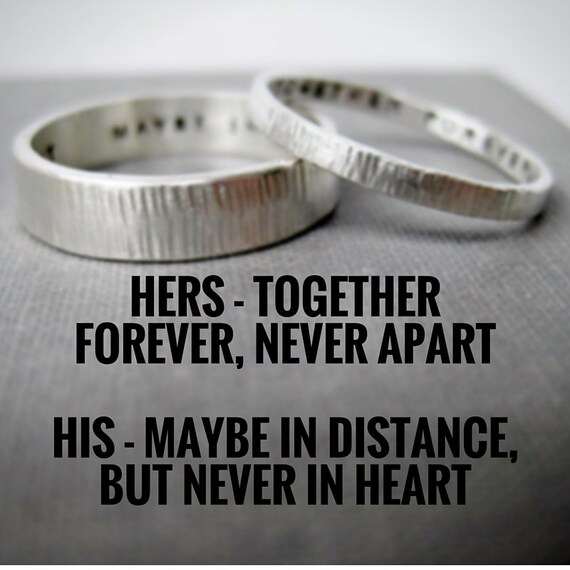 Personalized Couple Rings Solid Sterling His n Hers