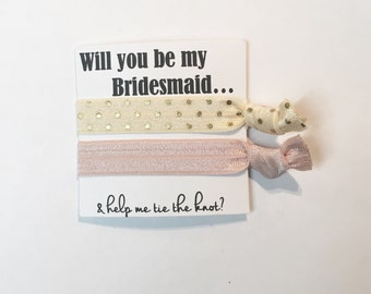 Bridesmaid hair tie favors//hair tie card, party favor, bachelorette party, bridesmaid hair ties, hair tie favor, baby shower, wedding