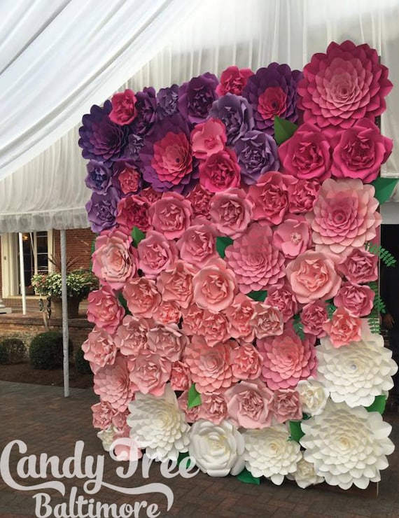 Sweet 16 backdrop giant paper flowers wall paper flower sweet 16 backdrop giant paper flowers wall paper flower wall large paper flowers wedding wall wedding arch mightylinksfo Images