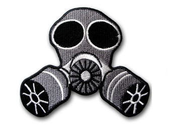 Medium Size Aliens Gas Mask Biohazard Patch Iron On Movies Sew Badge Emblem Biker Space Galaxy Symbol Gothic