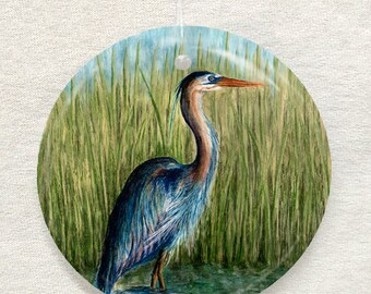 Blue Heron Ornament and Suncatcher