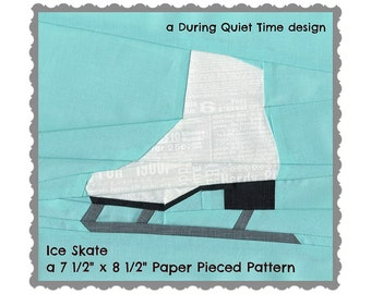 Ice Skate Paper Pieced Pattern