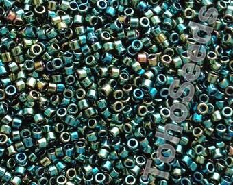 5g Toho 11/0 Treasure Cylinder Seeds Beads Higher Metallic Iris Green TT-01-507 Cylinder Rocailles Metallic Green