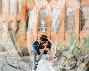 Wedding photo illustration