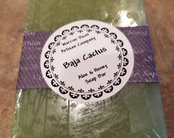 Organic Aloe & Honey Soap Bar: Baja Cactus