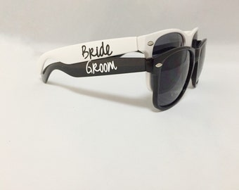 Bride Sunglasses - Engagement Gift - Bride and Groom Sunglasses - Destination Wedding Favors - Engagement Photo Props - Gift for Newlyweds