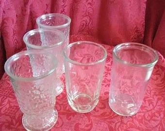 Vintage juice glasses set of 5