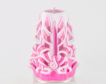 Christmas Candle - Christmas Gift - Pink Candle - Small Candle - Decorative candle