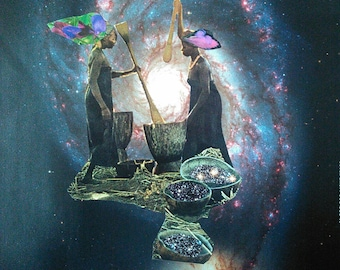 Pounding the Cosmos into Shape Collage 11x14 Print