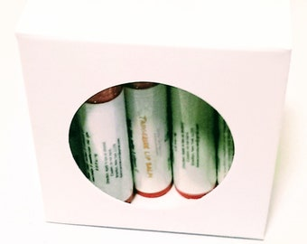 All natural Lip balm ( pack of 5) tangerine scented