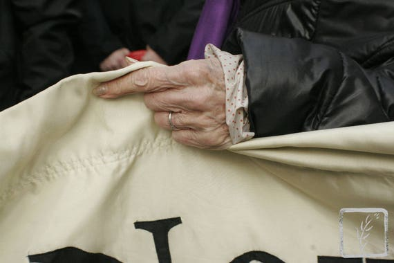 """Edith Windsor's Hand,"" New York City Women's March, 2017."