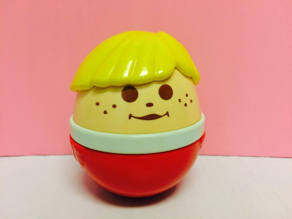 Vintage Little Tikes Weeble Wobble Chime Ball Toy Jumbo