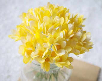 50pcs of Yellow Gypsophila Flower made from Mulberry Paper for DIY Scrapbooking Cards & other Decorations