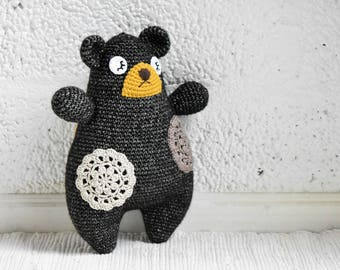 PATTERN - Pillow bear - crochet amigurumi pattern, PDF (English)