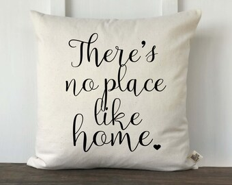 There's No Place Like Home Farmhouse Pillow Cover, Pillow Cover, Housewarming Gift, Wedding gift, Decorative Pillow, Bedroom Pillow