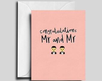 Mr and Mr / Gay Wedding Card