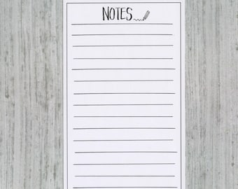 NOTES Double Tall Box Hand Drawn Large Box Note Page Planner Stickers
