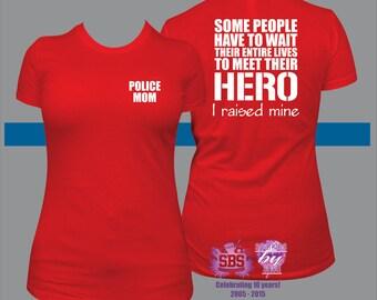 Police Mom shirt, police mom t, cop mom shirt, leo mom shirt, police officer mom shirt,  Officer, Blue Line, LEO, Law Enforcement,