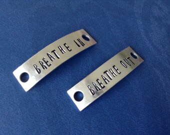 Hand stamped Shoe tags... personalized... Runner... athlete... gift