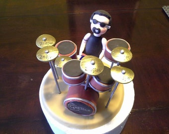Drummer Clay Cake Topper