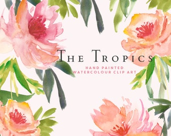 Watercolour Flower Hand Painted Clip Art - The Tropics