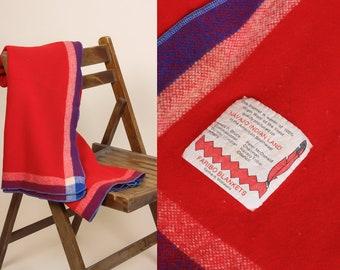 Vintage 70s Navajo Wool Throw Faribo Blanket